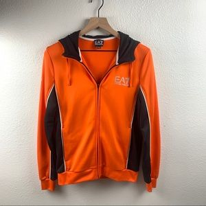ARMANI VENTUS ORANGE AND BLACK TRACK JACKET